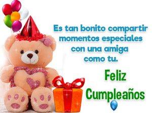 Feliz Día de Cumpleaños Amiga Especial