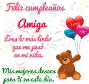 Feliz Día de Cumpleaños Amiga Linda
