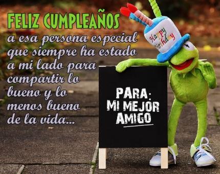 Feliz Día de Cumpleaños Amigo Especial