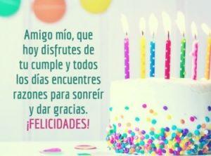 Feliz Día de Cumpleaños Amigo Mío