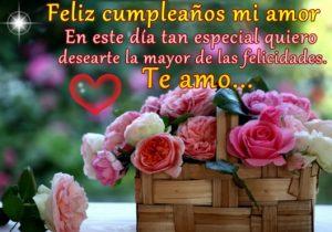 Feliz Día de Cumpleaños Amor Romántico