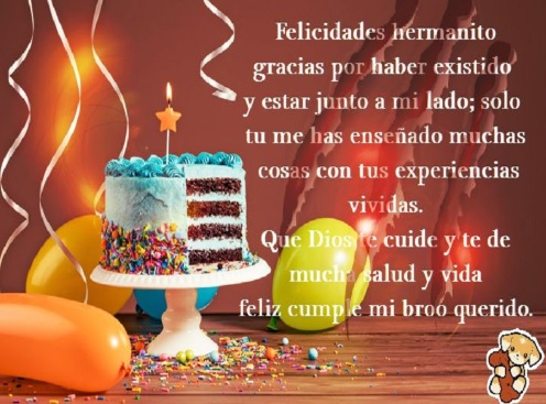Feliz Día de Cumpleaños Hermano Amado
