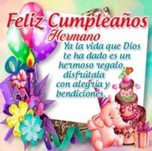 Feliz Día de Cumpleaños Hermano Querido