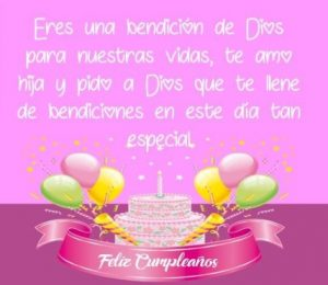 Feliz Día de Cumpleaños Hija Adorada
