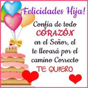 Feliz Día de Cumpleaños Hija Amada
