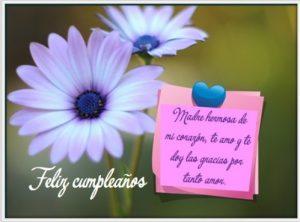 Feliz Día de Cumpleaños Mamá Hermosa