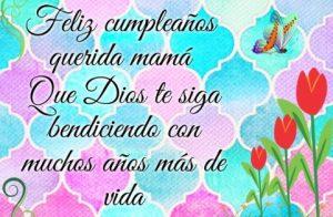 Feliz Día de Cumpleaños Mamá Querida