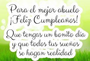 Feliz Día de Cumpleaños Abuelito