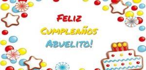 Feliz Día de Cumpleaños Abuelo Alegre