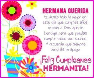 Feliz Día de Cumpleaños Hermana Adorada