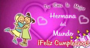 Feliz Día de Cumpleaños Hermana Linda