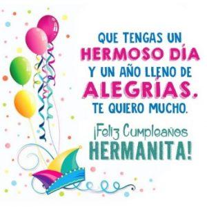 Feliz Día de Cumpleaños Hermanita