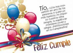 Feliz Día de Cumpleaños Tío Querido