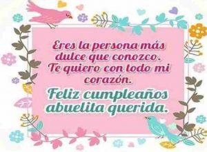 Feliz Cumpleaños Abuelita Hermosa