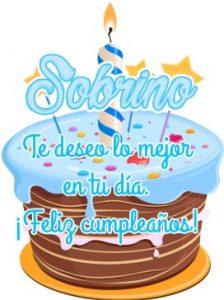 Feliz Cumpleaños Apreciado Sobrino