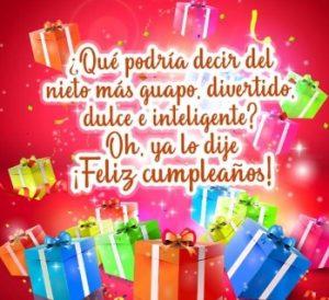 Feliz Cumpleaños Querido Nieto