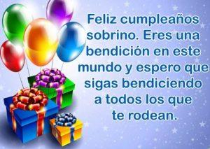 Feliz Cumpleaños Sobrino Hermoso
