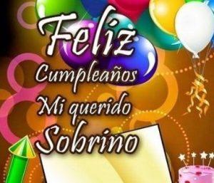 Feliz Cumpleaños Sobrino Lindo