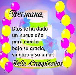 Feliz Cumpleaños Adorada Hermana