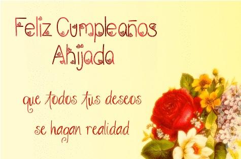 Feliz Cumpleaños Ahijada Adorada