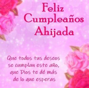 Feliz Cumpleaños Ahijada Querida
