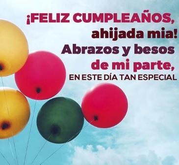 Feliz Cumpleaños Apreciada Ahijada