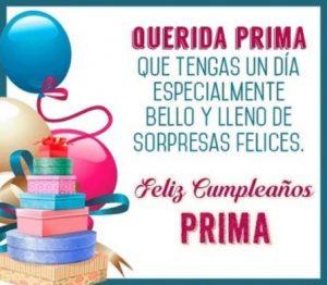 Feliz Cumpleaños Estimada Prima