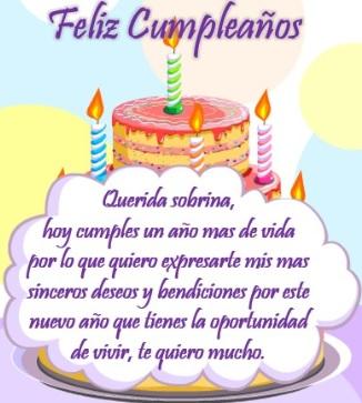 Feliz Cumpleaños Hermosa Sobrina