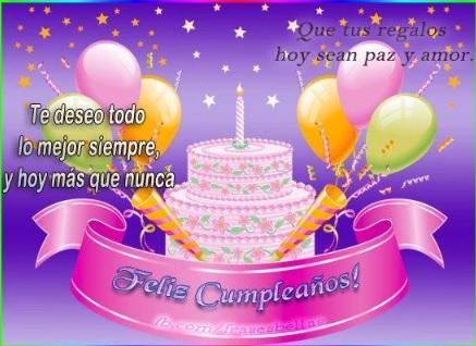 Feliz Cumpleaños Prima Hermosa