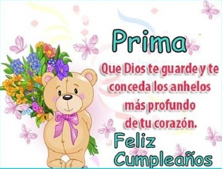 Feliz Cumpleaños Querida Prima