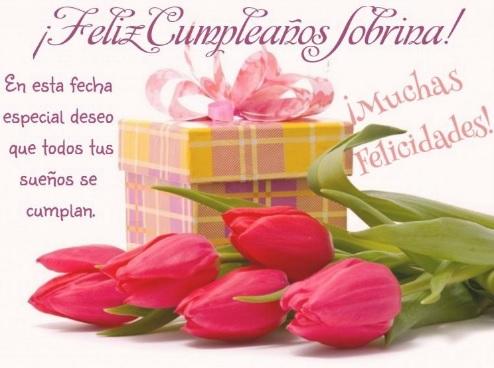 Feliz Cumpleaños Sobrina Linda