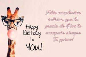 Feliz Cumpleaños Sobrinita