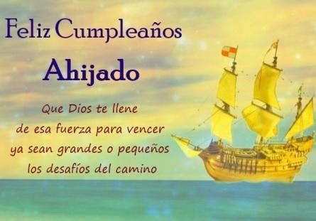 Feliz cumpleaños Ahijado Bondadoso
