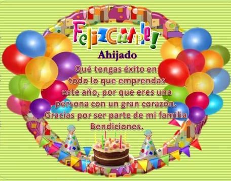 Feliz cumpleaños Ahijado Querido