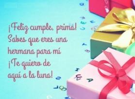 Feliz cumpleaños Amada Prima
