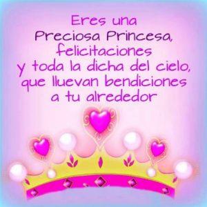 Feliz cumpleaños Mi Hermosa Princesa