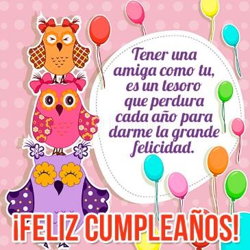 Feliz Cumpleaños Atesorada Amiga