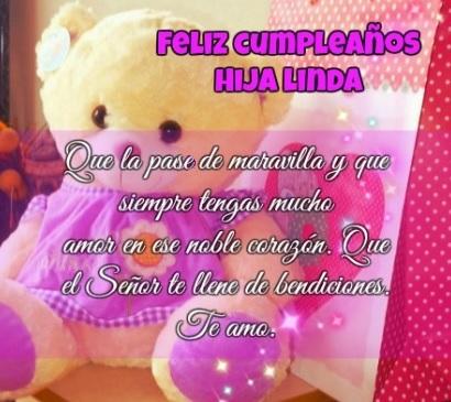 Feliz Cumpleaños Hija Linda