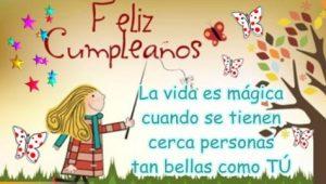 Feliz Cumpleaños Niña Alegre