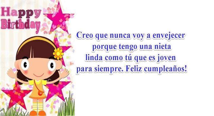 Feliz Cumpleaños Nieta Amada