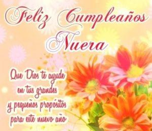 Feliz Cumpleaños Nuera