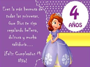 Feliz Cumpleaños Numero Cuatro Hija