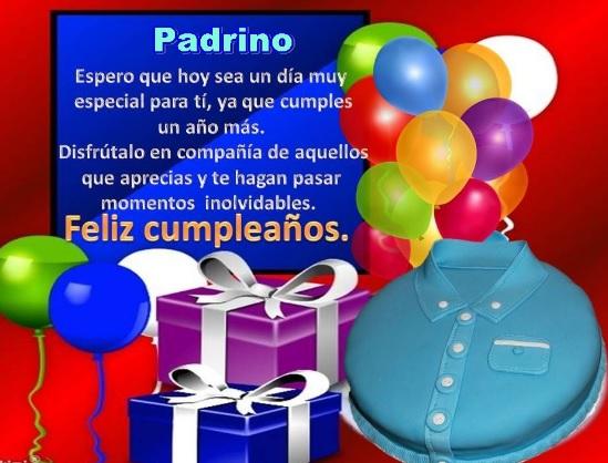 Feliz Cumpleaños Padrino Estimado
