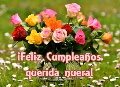Feliz Cumpleaños Querida Nuera