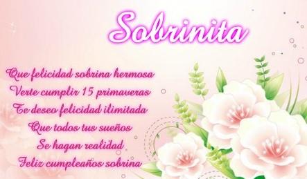 Feliz Cumpleaños Sobrina Adolescente