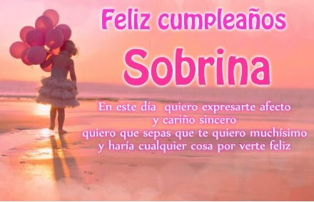 10 Hermosas y Tiernas Imágenes con Frases de Feliz Cumpleaños para una Sobrina