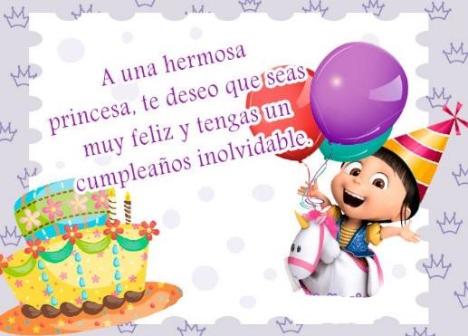 Feliz cumpleaños Hermosa Princesa