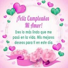Feliz Cumpleaños Amor te Amo