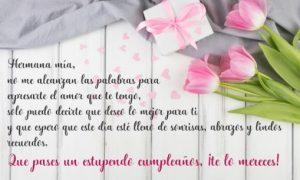 Feliz Cumpleaños Hermana Amada
