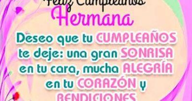 Feliz Cumpleaños querida Hermana
